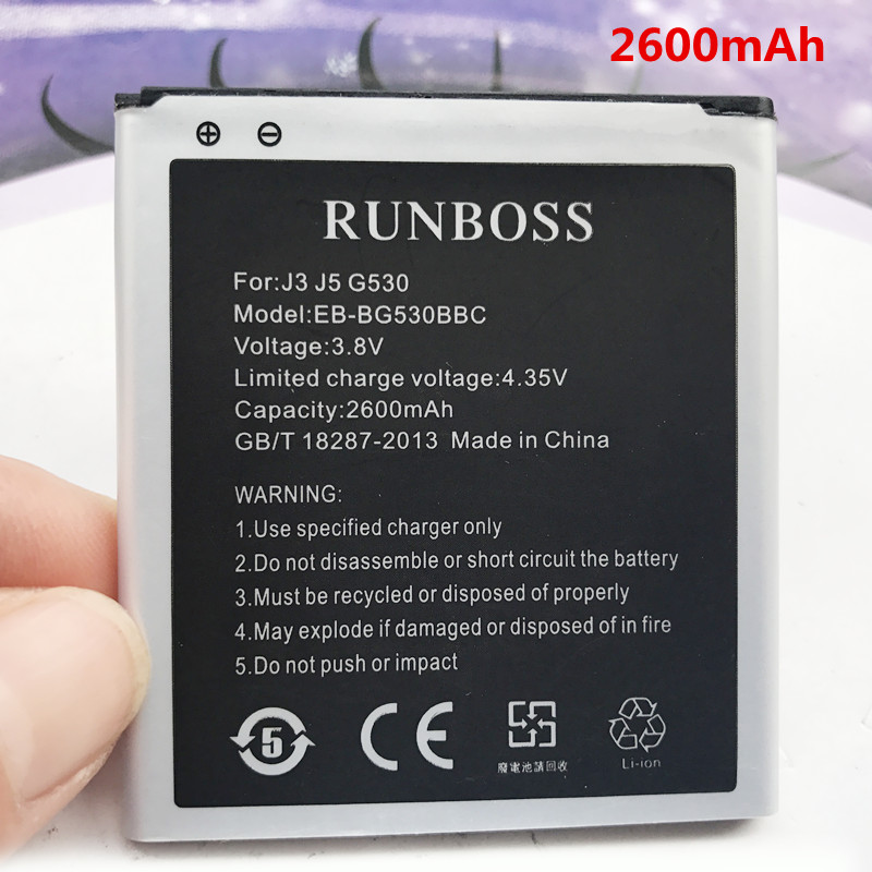 D'origine Batterie De Remplacement EB-BG530BBC EB-BG530CBU Pour Samsung Galaxy Grand-Premier J3119 SM-J3110 G530H J500 On5 G531 2600 mAh