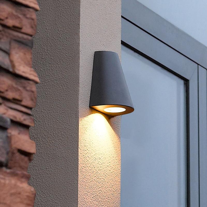 Moderne LED porche lumière jardin éclairage étanche extérieur lampes murales balcon cour éclairage professionnel extérieur applique murale