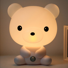 EU US Plug Cartoon font b Pets b font Baby Bedroom Lamps Night USB Astronaut Table