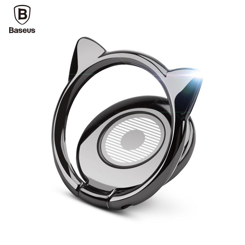 Baseus Mobile Phone Stand Holder For iPhone X 8 Samsung Xiaomi Cell Phone Finger Ring Holder Stand Apply to Magnetic Car Holder