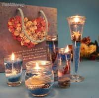 Creative Jelly Candle 5pcs European Style Ocean series Aromatherapy Candle Smokeless Decoration Handmade Scented Candle Z619