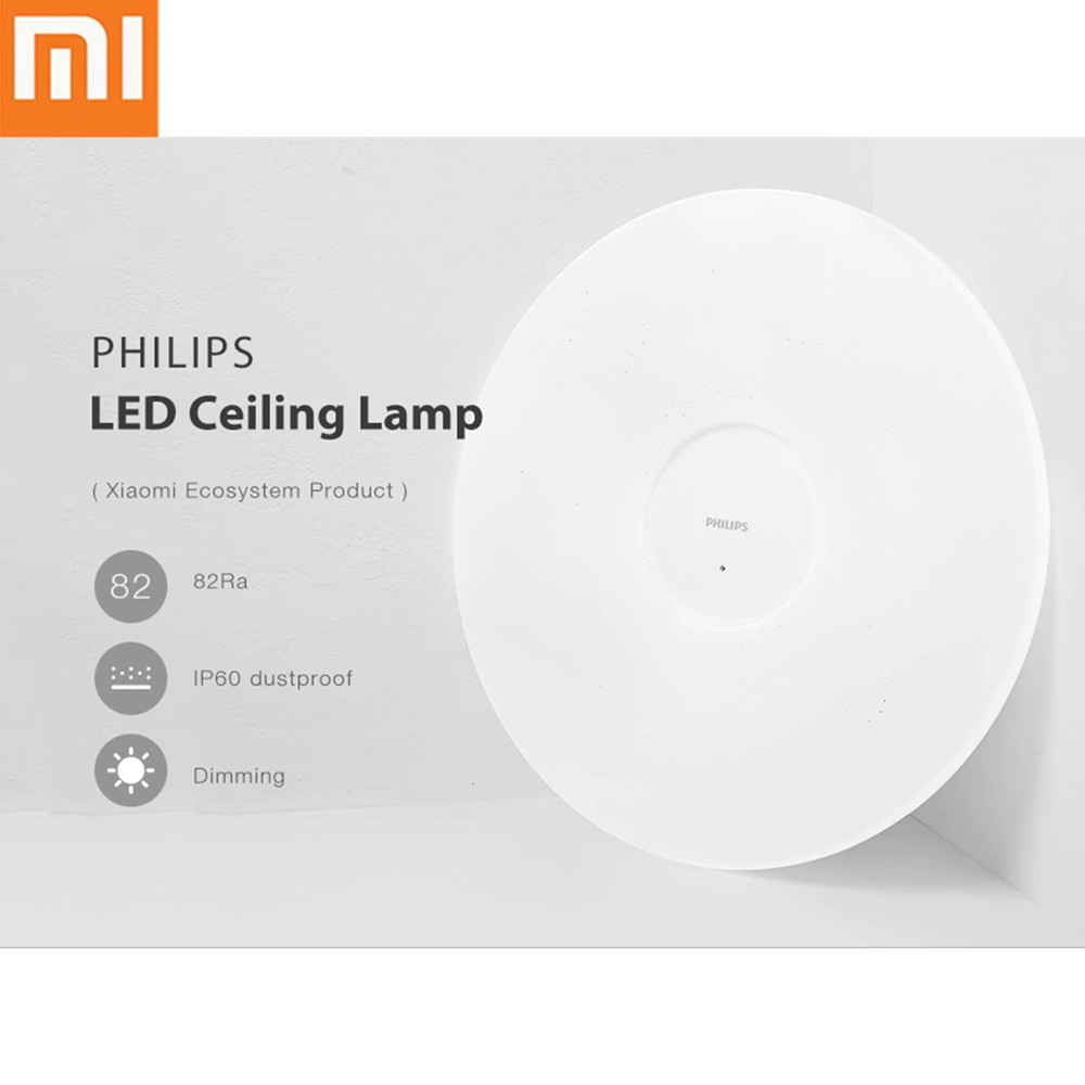 PHILIPS LED plafonnier IP60 étanche à la poussière App télécommande sans fil intelligent Auto gradation lumière AC 100-240 V avec clair de lune