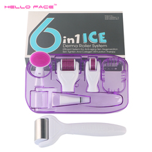 HELLO FACE DRS Derma Roller 6 in 1 Microneedle Kits Ice Roller microneedle machine for skin care and body care