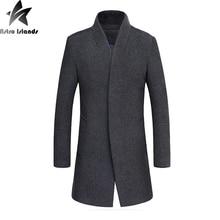 2016 neue Ankunft Männer Wolle Wollmantel Mit Baumwolle Innen Warm halten Männer Einfache Business Casual Mantel Plus Größe 4XL MT275