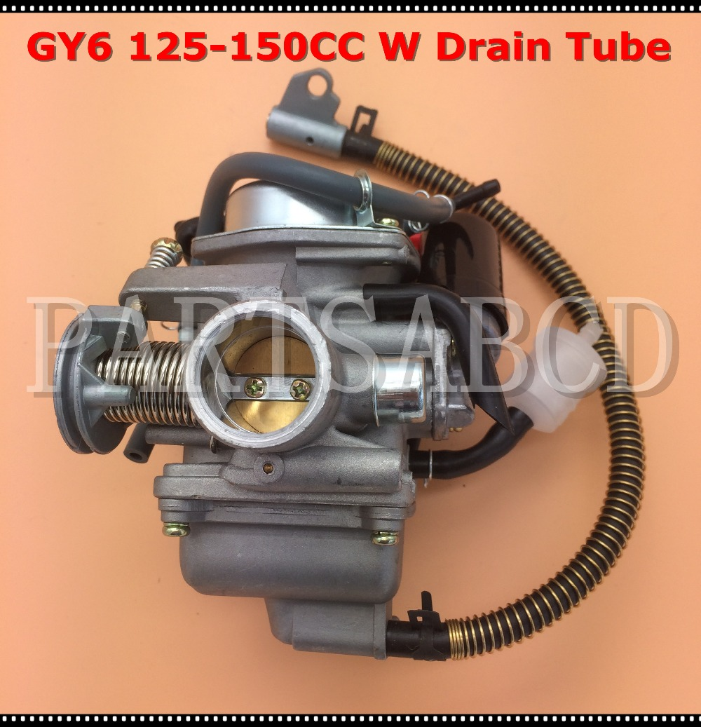 hight resolution of gy6 125cc 150cc pd24j carburetor carb with drian tube hammerhead sunl roketa kazuma taotao atv go kart scooter parts in atv parts accessories from