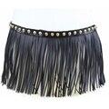 Мода PU кожа бахромой ремни для женщин лучший матч заклепки цепи пояса леди ceinture femme для платья партии Черный/коричневый