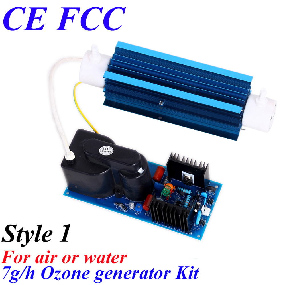 CE EMC LVD FCC Factory outlet BO-7QNAON 0-7g/h 7gram adjustable Quartz tube type ozone generator Kit FOR air or water pinuslongaeva ce emc lvd fcc factory outlet 500mg h 500g h adjustable ozone generator machine water air pump silicone tube