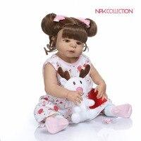 56 см Силиконовые reborn baby doll в загар кожи цвет полный средства ухода за кожей силиконовые bebe Кукла reborn для ванной игрушки lol кукла подарок на де...