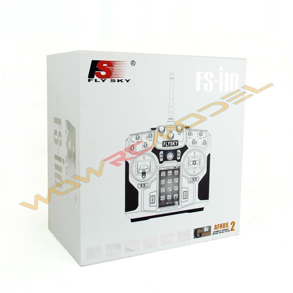أحدث FlySky FS i10 FS i10 2.4 جرام 10CH RC الارسال تحكم مع استقبال و 5 مجسات RC راديو نظام-في قطع غيار وملحقات من الألعاب والهوايات على  مجموعة 1