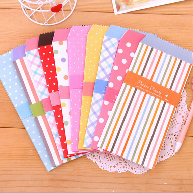 5pcs/lot Candy Colored Envelopes Small Envelope Writing Paper Stationery  Kawaii Birthday Christmas Card Envelopes  Colored Writing Paper