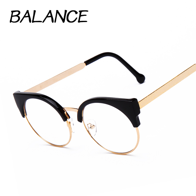 Fixing Half Frame Glasses : Aliexpress.com : Buy Women cat eye Plain Glasses half ...