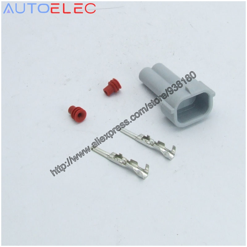 100kit 2P Fuel Injector Parts Denso Top Slot male connector Fuel Injector Connectormale Connector KIT NEW