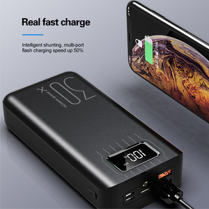 Image 5 - 30000mAh LED Display Power Bank For iPhone Samsung Tablet Powerbank Dual USB Charger QC Fast Charging External Battery Pack Bank