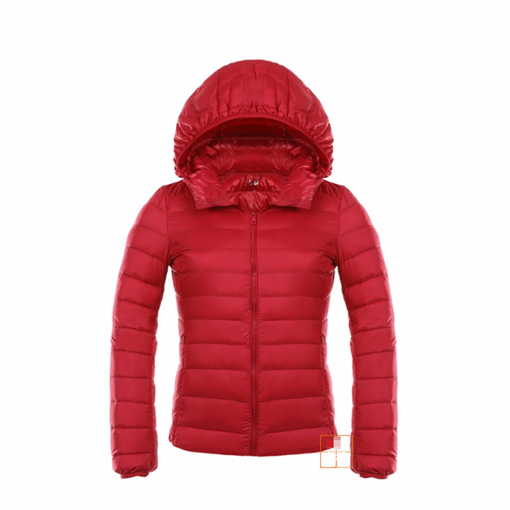 Tengo Winter Quality Brand Women Ultra Light Down Jacket Female 90 White Duck Down Parka Jacket