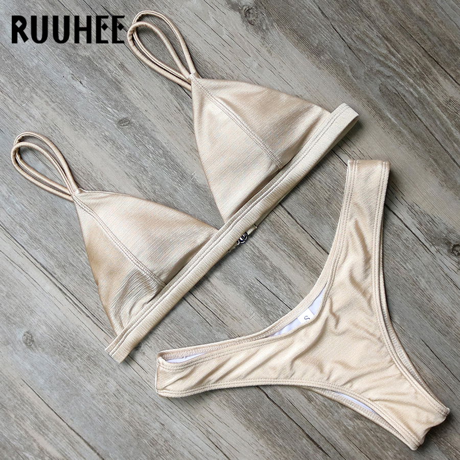 RUUHEE Bikini Swimwear Women Swimsuit Brazilian Bikini Set 2018 Push Up Bathing Suit Female Beachwear Sexy Swimsuit With Pad ruuhee sexy bikini swimwear swimsuit women 2018 halter bikini set bandage bathing suit high waist female beachwear bodysuit