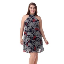Women Plus Size Dress Halter Sexy Club Sleeveless Summer Night Party Ladies Wear To Work Office Casual Dresses