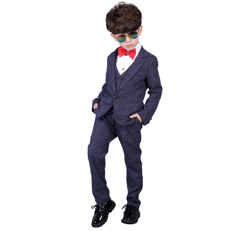 Children Formal Suit Baby Boys Suit Kids Blazer Boys Performance Suit For Weddings Boys Clothes Set Jackets Vest Pants 3pcs B026 children formal prince brand suit baby boys suits kids blazer wedding birthday party clothes set jackets vest pants 3pcs b026