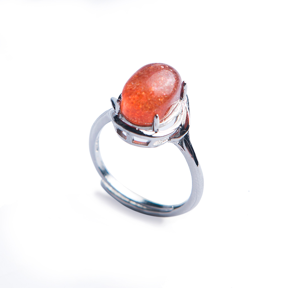 Natural Red Super Seven Lepidocrocite Quartz Beads Adjustable Ring 925 Sterling Silver 9x7mm Beads Fashion Rings AAAANatural Red Super Seven Lepidocrocite Quartz Beads Adjustable Ring 925 Sterling Silver 9x7mm Beads Fashion Rings AAAA