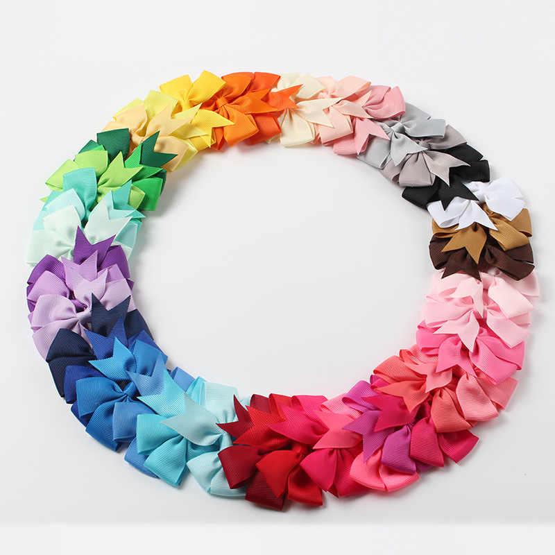 Nishine 20 ピース/ロット女の子リボン弓クリップヘアピンワニ金属弓クリップ帽子子供 Hairbows ヘアアクセサリー