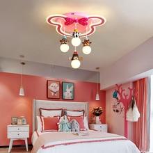 Modern led chandeliers bedroom fixtures Childrens room Overhead hanging lights for home girls Kids princess chandelier lamp