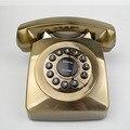 Модели моды Телефон Антикварные Квадратных блок Золотой Цвета ABS Материал Охраны окружающей среды Голосовые Вызовы