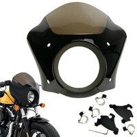 Передняя фара для мотоцикла маска с козырьком и блокировка крепления комплект для Harley динамический анализатор для автомобиля с низкой поса
