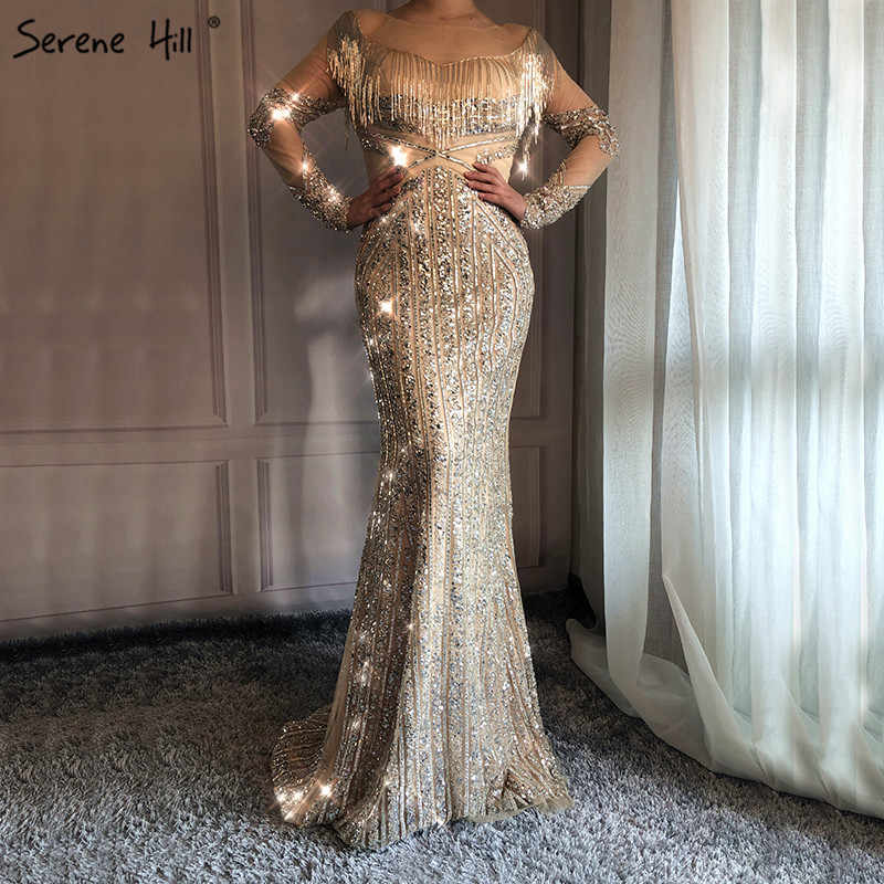 Новейшее роскошное тонкое сексуальное вечернее платье с длинными рукавами c3b8ea4c2b2a1