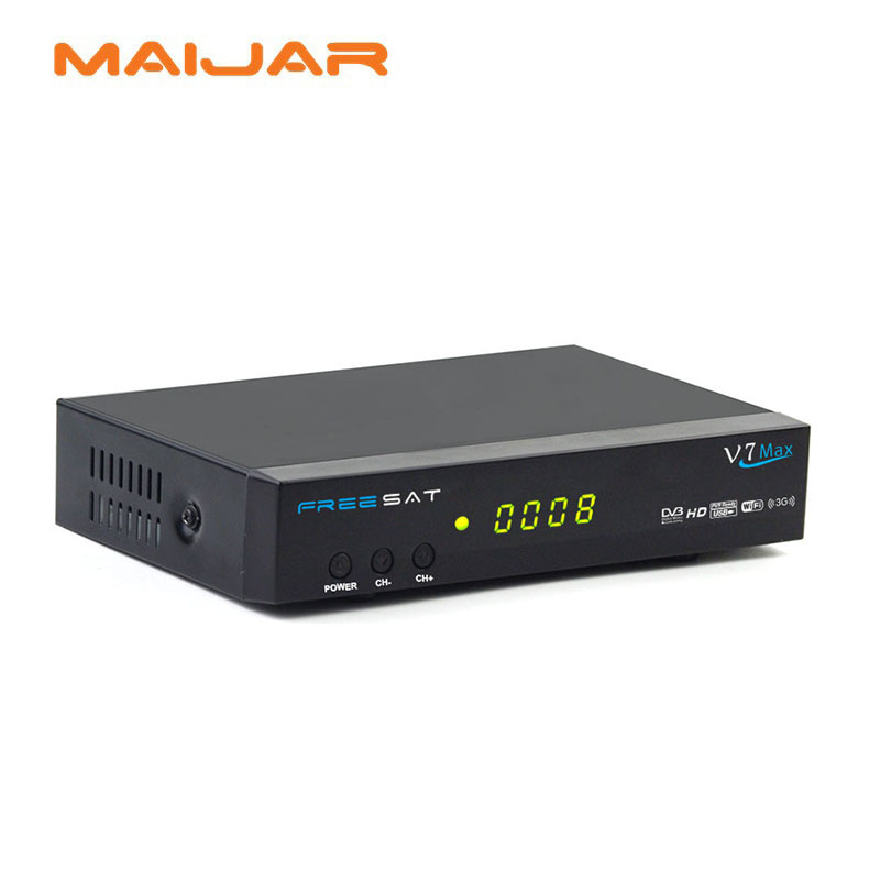 ФОТО [GENUINE] digital satellite receiver FREESAT v7 max FTA dvb-S/S2 HD full 1080p tv receiver V7 max support powervu,Dre&bisskey