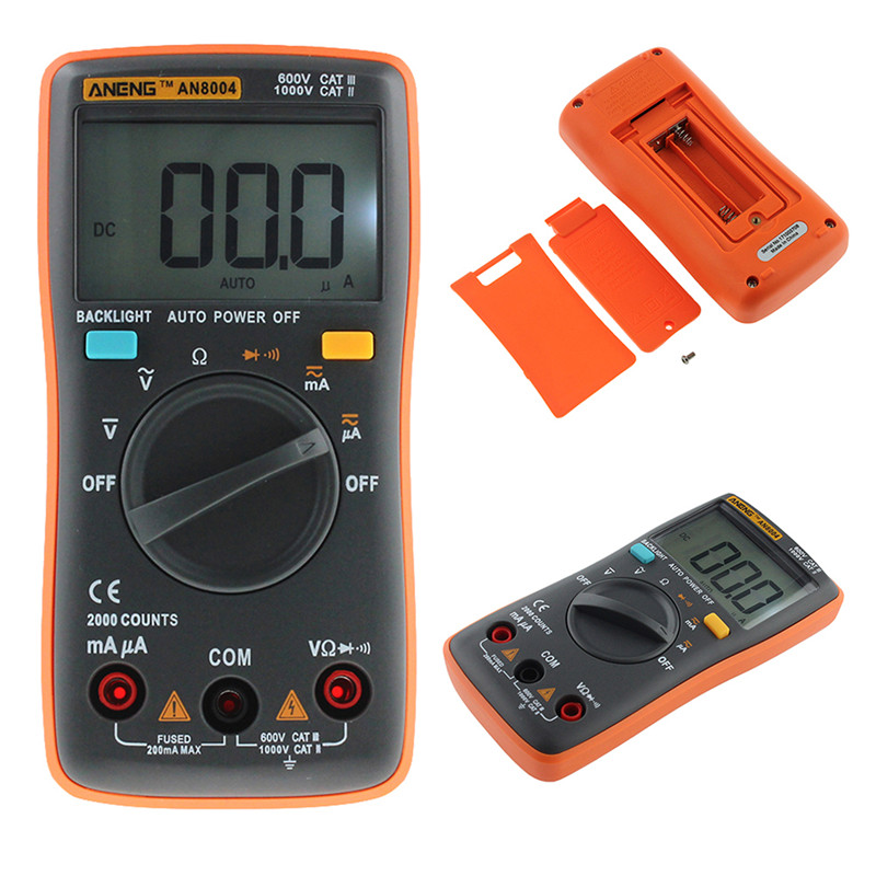 AN8000/AN8001/AN8002//AN8004 Multimeter 6000 Counts Back Light AC/DC Ammeter Voltmeter Ohm Frequency Diode Temperature an8002 multimeter 6000 counts back light ac dc ammeter voltmeter ohm frequency diode temperature y40