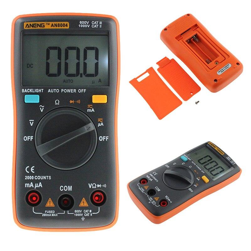 AN8000/AN8001/AN8002/AN8004 multímetro 6000 cuenta luz trasera AC/DC voltímetro amperímetro Ohm Frecuencia de temperatura