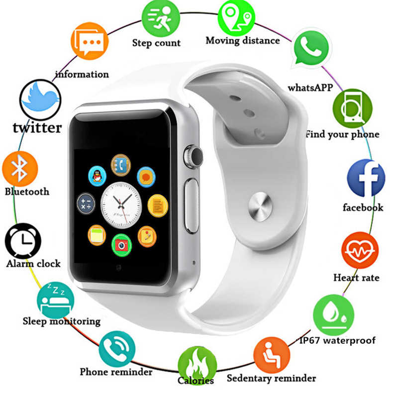 HIXANNY Bluetooth Smart Watch Clock Sync Notifier Support SIM TF Card Connectivity Apple Iphone Android Phone Smartwatch GT08