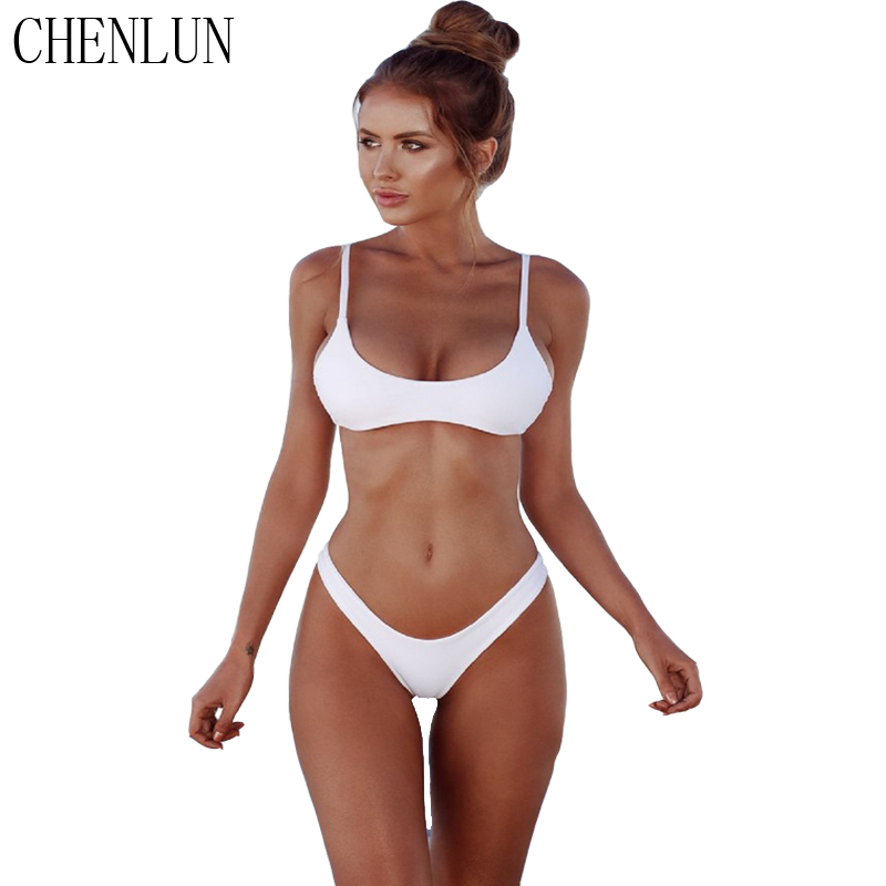 CHENLUN 2018 sexy Bikini Set Summer Solid color Swimwear Brazilian Bikini Women Beach Wear Bathing Suit Popular Female Swimsuit  2