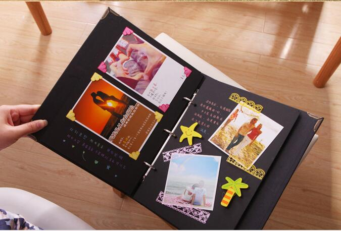 Buy diy manual paste type photo album baby grow memory record couple creative - Album para guardar fotos ...