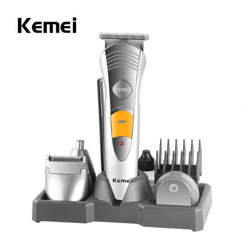 7-in-1 Adjustable Electric Hair Clipper Professional Nose Ear Hair Trimmer Beard Shaver Rechargeable Hair Cutting Machine 5 in 1 rechargeable cordless hair clipper precision trimmer beard trimmer nose hair trimmer foil beard trimmer with turbo button