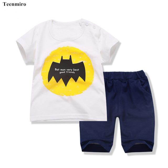moda infantil verão roupas infantis menino menina conjuntos baby bebe  menino conjunto feminino short crianças bermuda eee3a18901df7