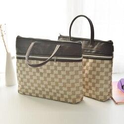 للماء A4 النساء فتاة بسيطة الترفيه العمل حقيبة لابتوب مجلة حافظة مستندات المعلم زوجة الأم مع مقبض