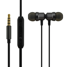 qijiagu mikrofon hörlurar 3,5 mm universell trådlösa hörlurar i örat super bas hörlurar med mikrofon hörlurar