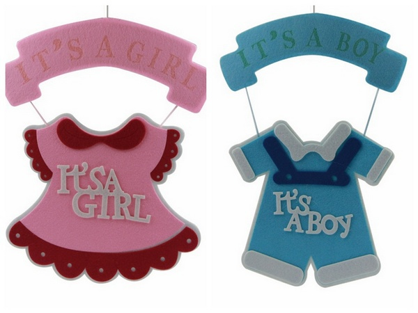 Marvelous Boysu0026Girls Baby Shower Party Hanging Clothes Decorations Felt Baby Clothes