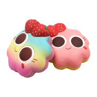 Besegad Kawaii Strawberry Cake Bread Ice Cream Scented Squishy Slow Rising Relieves Stress Anxiety Toy for Child Adult Attention