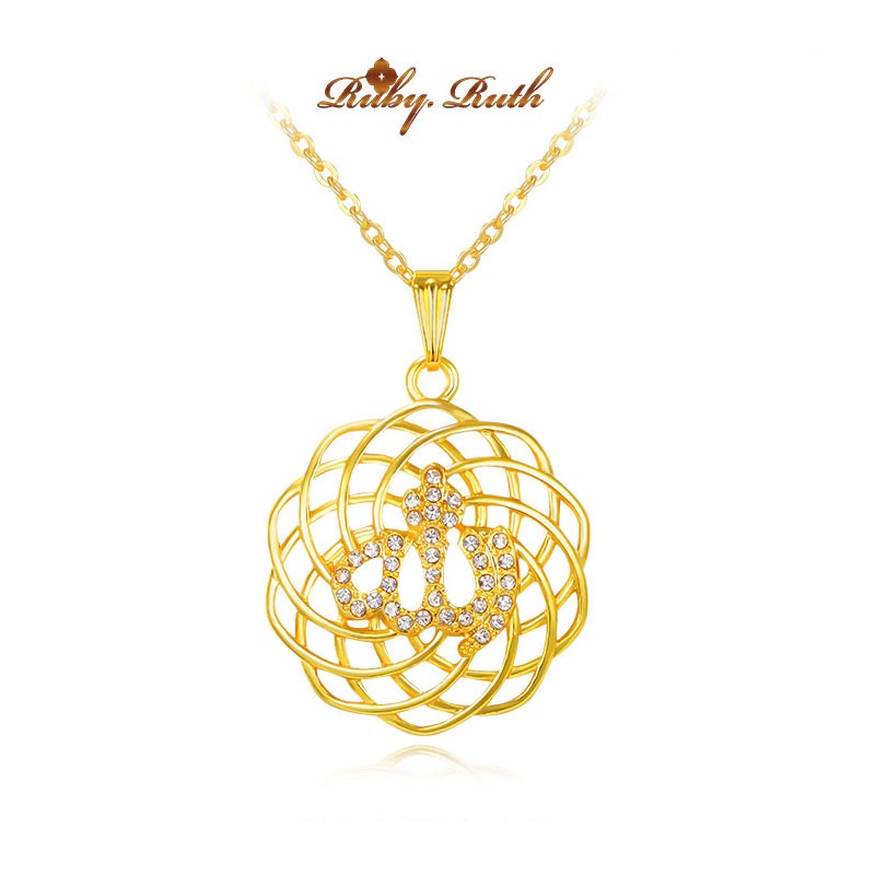 islam gorjuss allah muslim islamic fine jewelry necklace Fashion Gold Color Necklaces Pendants pendant fashion crystal jewellery