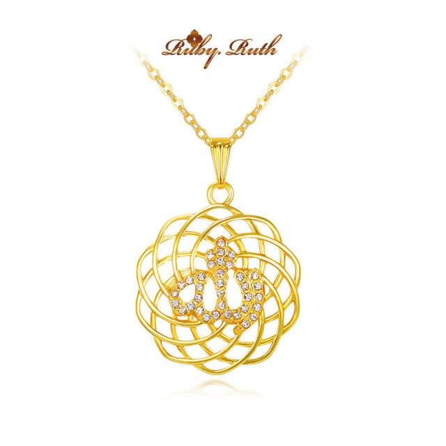 islam gorjuss allah muslim islamic fine jewelry necklace Fashion Gold Color Necklaces Pendants pendant fashion crystal jewellery