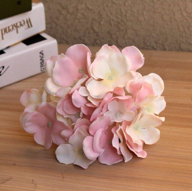 APRICOT Silk flower Wedding Decoration Artificial flowers Spring vivid Big Hydrangea wedding flowers decoration 15colors 3