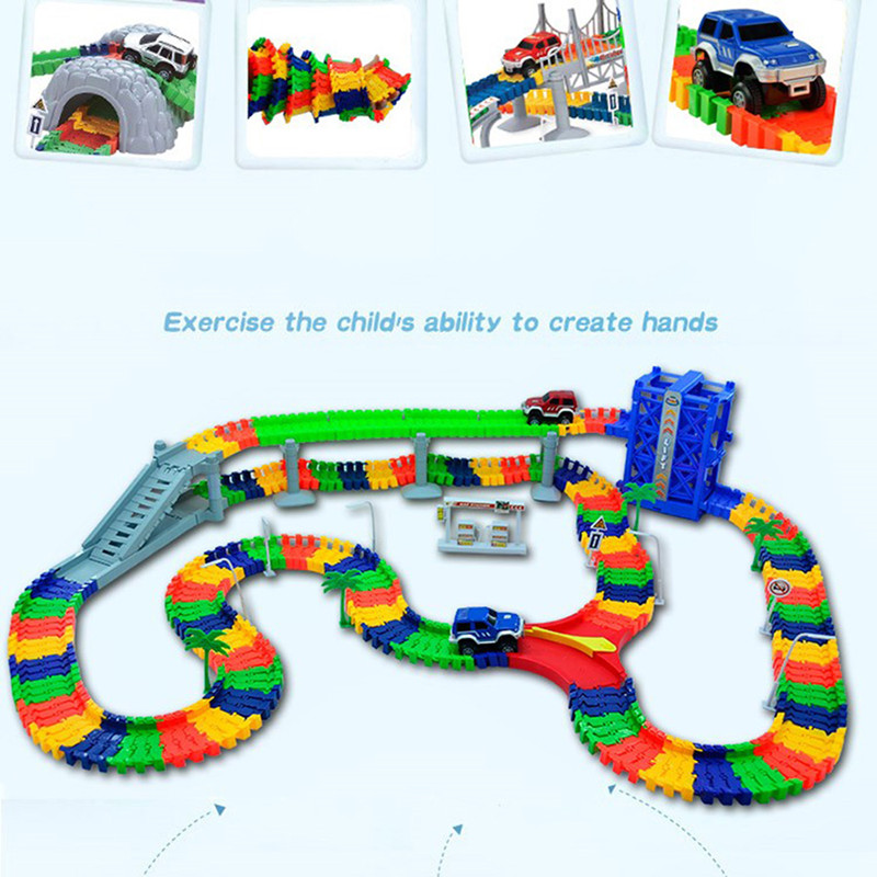 5.5cm DIY Universal Accessories for Magic Glowing Track Educational Rail Car Toy Racing Tracks Car Kids For Toys Gifts