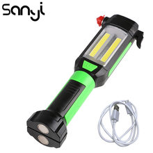 SANYI Magnetic Car Repairing Working Light COB LED Flashlight USB Charging Portable Lamp for Camping Climbing Hunting(China)