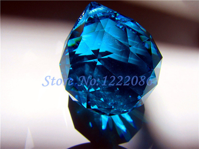 Pcs AAA Crystal Aqua Glass Crystal Faceted Ball Mm Replacement - Replacement chandelier glass crystals