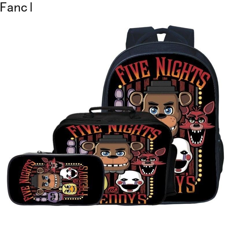 Teenagers Girls Boys Children School Bag Five Nights At Freddys School Backpacks