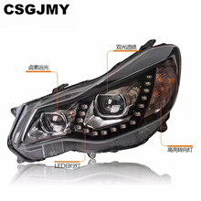 1Pair Head Lamp Headlights LED Headlight Daytime Running Light Bi Xenon Lens Xenon Low Beam For Subaru XV 2012 2013 2014 2015(China)