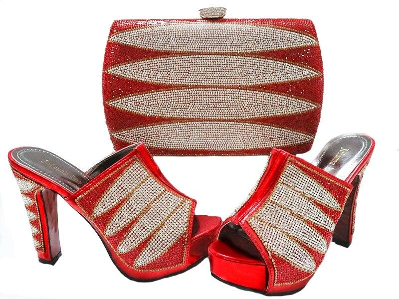Pour Partie Tissu Sac Mode Détail Correspondant Asoebi Au Rouge Gratuite Dentelle Ensemble Et en Livraison Chaussures 2017 Africain Gros Sb8070 wvt07v