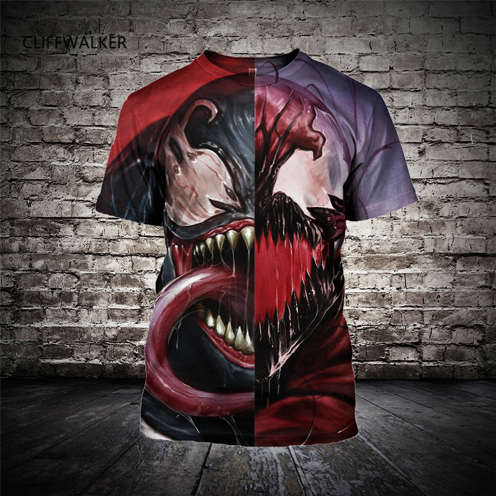 New Hip Hop T Shirt Venom 3D Printing Men's Women's Casual Tee Tops Punk Fashion Shirts Summer T-shirts M-6XL Drop Shipping