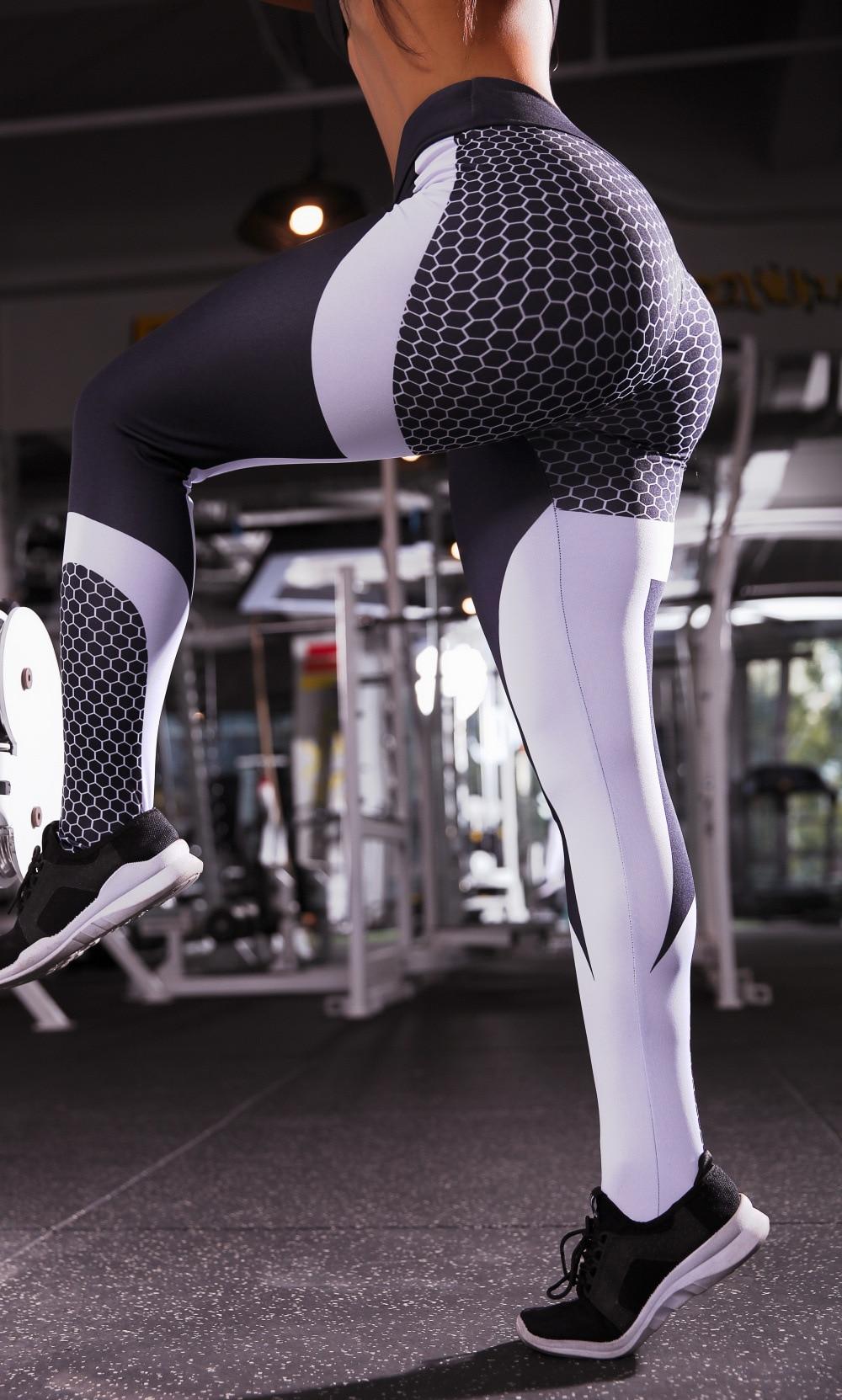 Mesh Pattern Print Leggings (11)